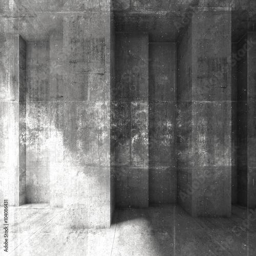 ciemna-betonowa-sciana-3d