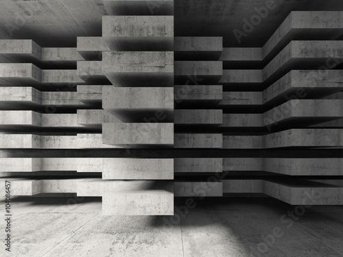 Obraz Nowoczesny beton 3d, fototapeta przestrzenna 3D - fototapety do salonu
