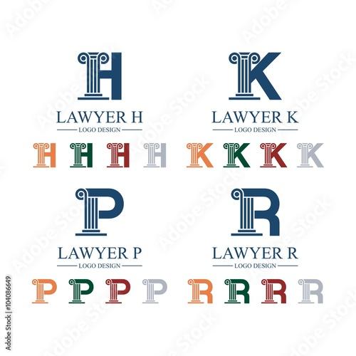 Lawyer Law Attorney Pillar Letter Font H K P
