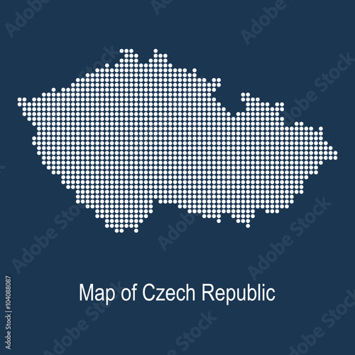 Fotografie, Tablou  Map of czech republic