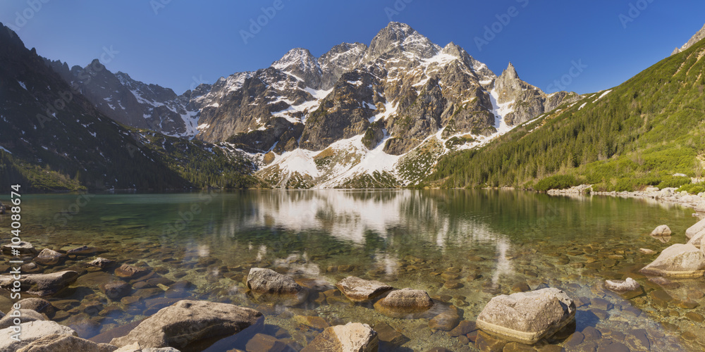 Fototapety, obrazy: Morskie Oko lake in the Tatra Mountains, Poland