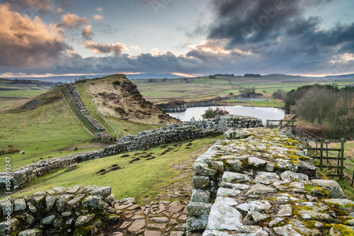 Fotografia, Obraz Milecastle 42 on Hadrian's Wall east of Cawfield Quarry