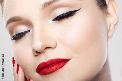 Foto op Plexiglas Beauty sexy girl with beautiful make up
