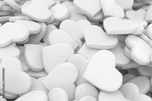 3d background made from many hearts