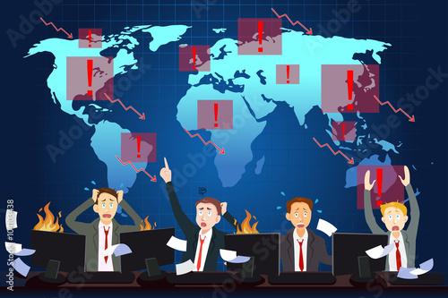 Photo  Global Economic Crisis Concept
