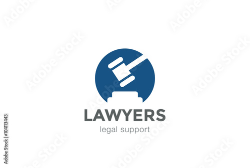 Lawyer Legal Law firm Logo design vector Negative space