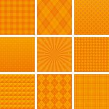 オレンジ ハロウィン 広告背景 9種