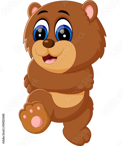 Fototapety, obrazy: illustration of cute baby bear cartoon