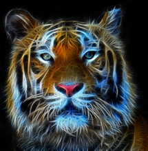 Digital Illustration Of A Bengal Tiger