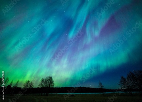 Wall Murals Northern lights Northern lights aurora borealis landscape