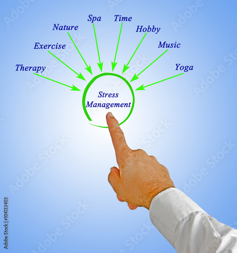 Diagram Of Stress Management Buy This Stock Photo And Explore