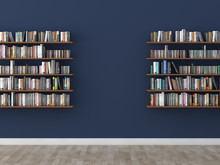 Interior Bookshelf Room Librar...