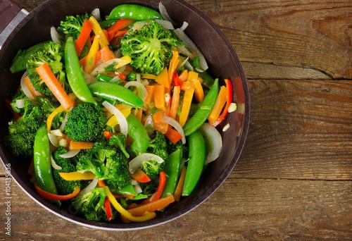 Foto op Plexiglas Groenten Vegetable stir fry.
