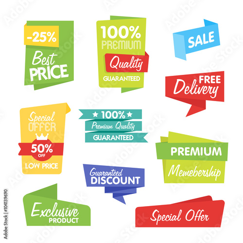 Fotografie, Obraz  Sale and discount vector sticker