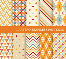 10 Retro Different Soft Seamle...