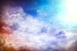 Leinwandbild Motiv Over the Clouds
