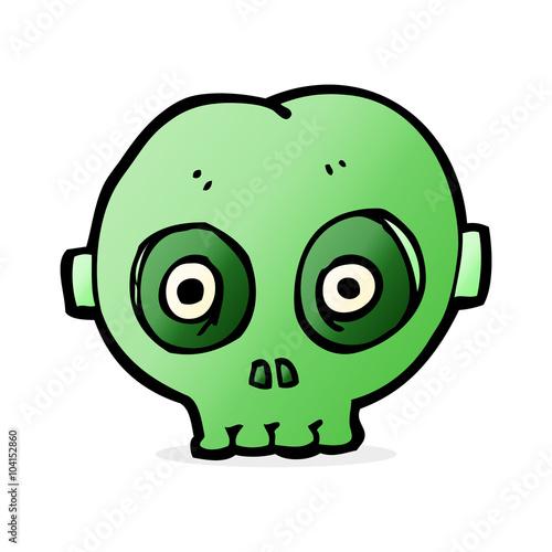Poster Creatures cartoon halloween skull mask
