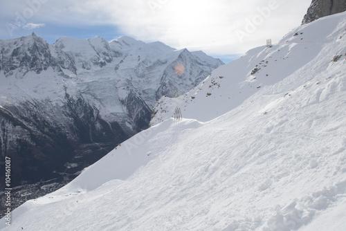 Montage in der Fensternische Gebirge mountain landscape