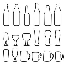 Different Types Of Glasses And Bottles For Drinking
