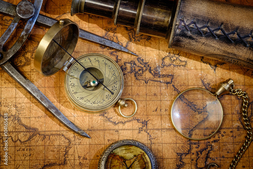 Fotografia  Travel geography navigation concept background.