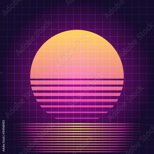 Fotografia  Retro Sci-Fi sunset