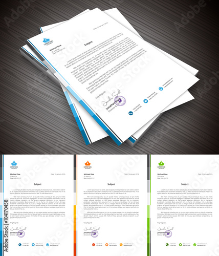 Fototapeta This is simple and creative letterhead for business and personal purpose usages. Well organized and layered. Easy to edit. obraz