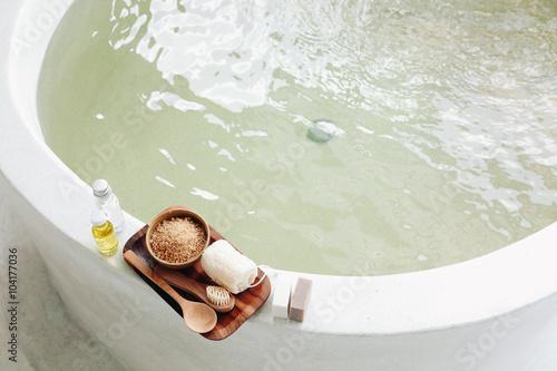 Obraz na płótnie Spa bath compostition