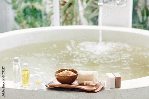 Spa bath compostition Wallpaper Mural