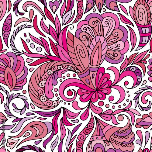 In de dag Boho Stijl Abstract hand drawn seamless pattern