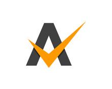Letter A Check Logo Design Ele...
