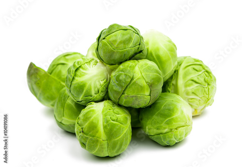 Foto op Canvas Brussel a pile of Brussels sprouts