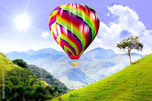 Balão voando