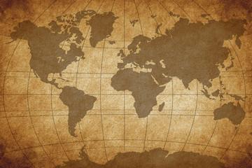 fototapeta brązowa mapa świata