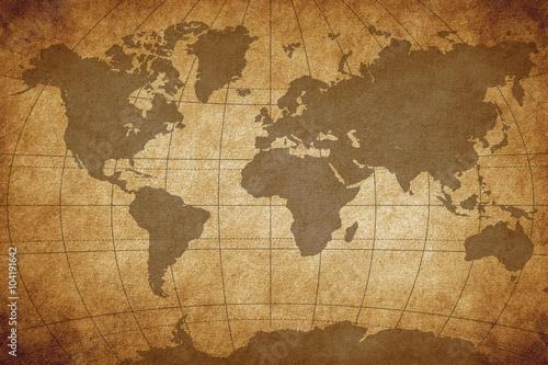 Foto op Aluminium Map of the world