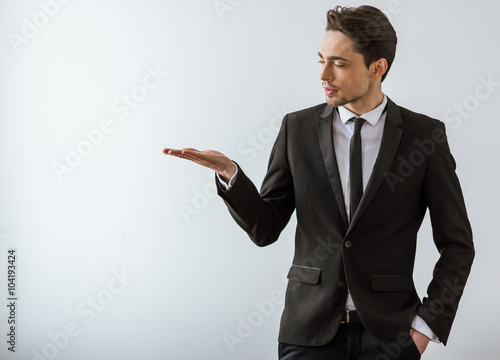 Valokuva  Handsome young businessman