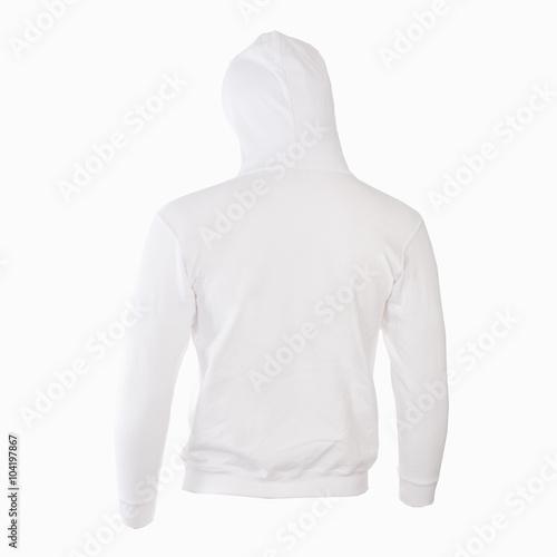 Photo  Felpa bianca con cappuccio retro