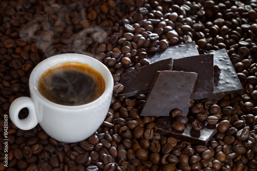 Wall Murals Cafe Coffee And Dark Chocolate