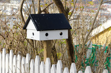 One Little Birdhouse Made Of Wood