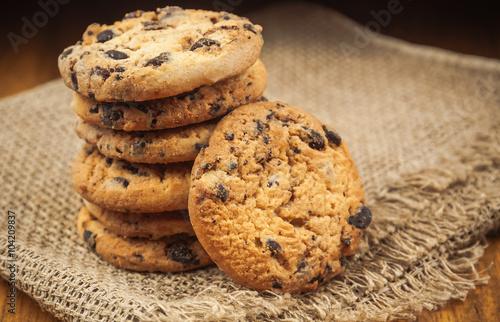 Tuinposter Koekjes stack of cookies