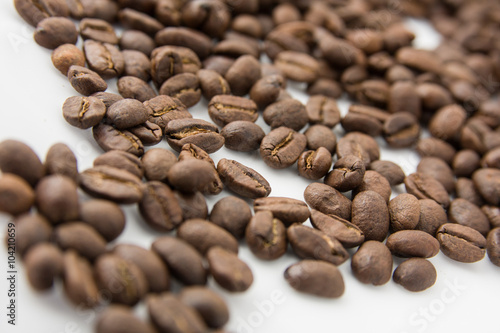 Deurstickers koffiebar Granos de café tostado