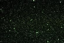 Green Black White Glitter Stars Texture Abstract Background