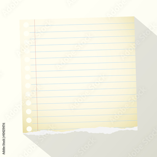 Piece Of Torn Yellow Lined Notebook Paper On Light Background Buy
