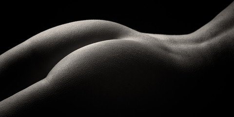 Obraz na SzkleFemale Buttocks in Mono