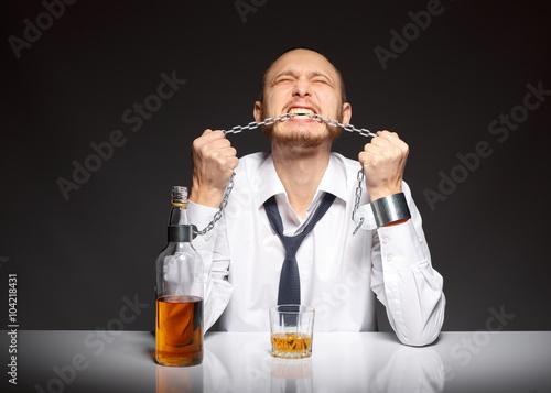Fotografie, Obraz  Alcohol dependence in men