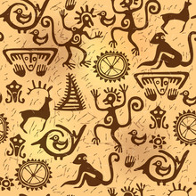 Seamless Pattern Ancient Old