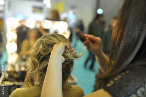 Stampa su Tela coiffure pour femme