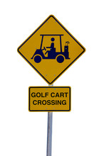 A Black And Yellow Golf Cart C...