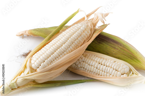 white sticky corn isolated