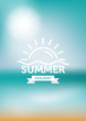 summer background with logo. vector