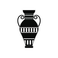 Egyptian Vase Icon, Simple Style